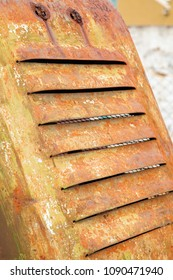 old tractor radiator grille, disused vehicle