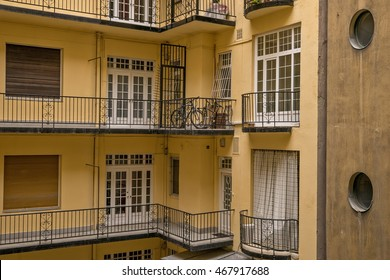 Old traditional architecture with modern elements in Budapest Hungary