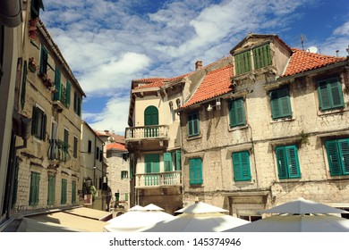 Old traditional brick house in Split, Croatia