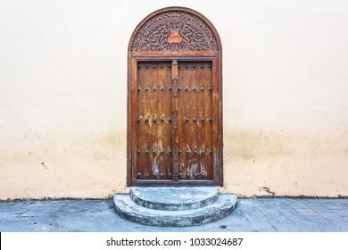 Old traditional doors. Stone Town, Zanzibar, Tanzania.