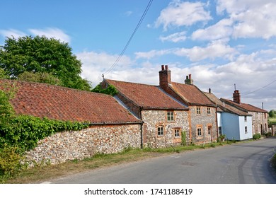 Old traditional english cottages in Norfolk