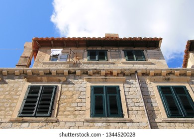 Old traditional mediterranean house in Dubrovnik , Croatia