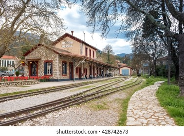 The Old Traditional Railroad Station at Kalavryta,Greece