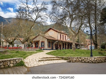 The Old Traditional Railroad Station at Kalavryta,Greece.