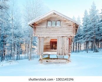 Old Traditional wooden cottage of Dalarna in Sweden
