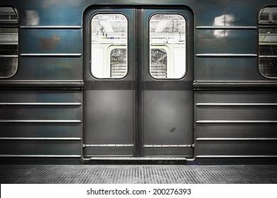 old train door