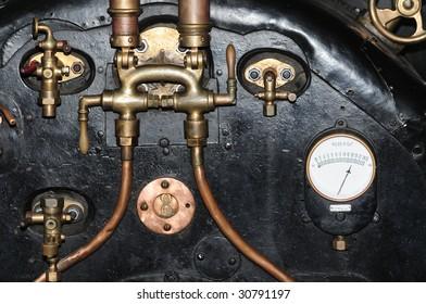 Old train locomotive engine