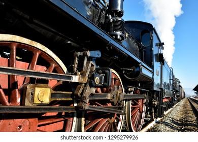 Old train on the railway