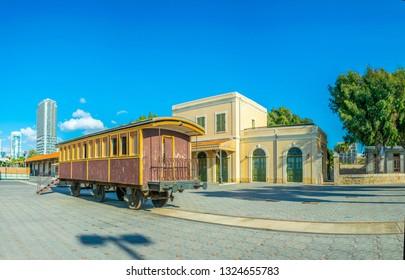 Old train station in Tel Aviv, Israel