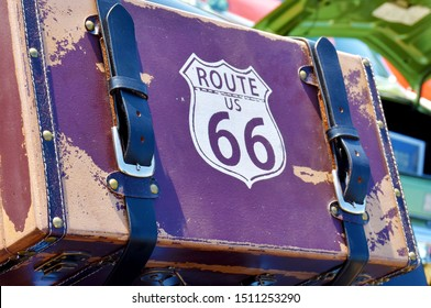 Old Traveling Suitcase - Route 66