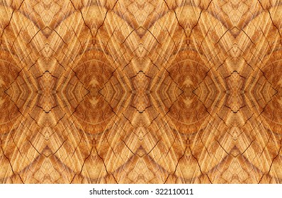 Old tree stump surface with cracks background design.