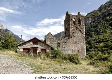 Old Trinidad Church of Canfranc Huesca Spain, Abandoned