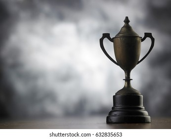 old trophy with memory