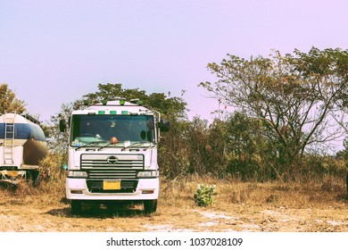 old truck lorry park outdoor