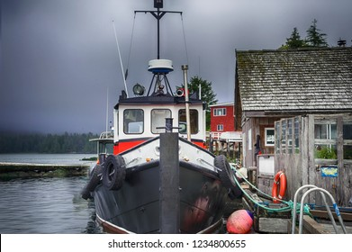 Old tugboat faces stormy weather