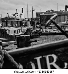 Old tugboat harbour port Amsterdam