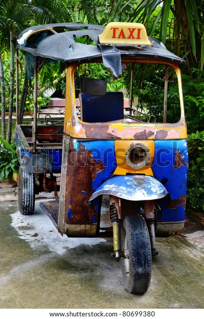 Afholte Old Tuk Tuk Thailand Car Scooter Stock Photo (Edit Now) 80699380 BL-51