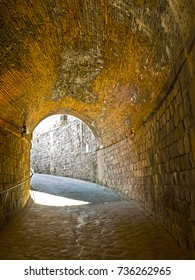 Old tunnel entrance with nobody