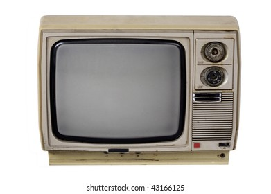 Old TV isolated with clipping path