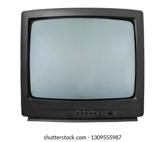 Old TV. TV with kinescope on a white background.