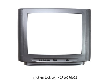 The old TV on the isolated.Retro technology concept.