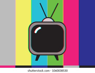 Old TV and Signal Disruption