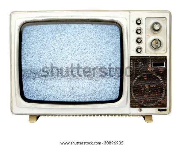old tv with TV snow