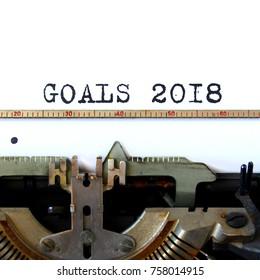 old typewriter happy new year goals