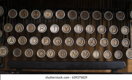 Old Typewriter Keys Rounded Vintage