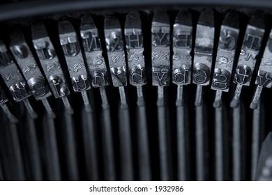 Old typewriter type hammer