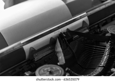 Old typewriter, typing a story