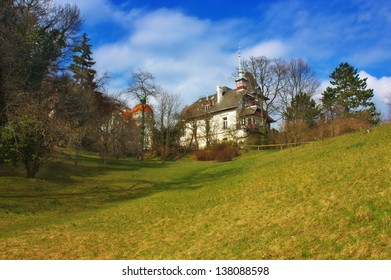 Old typical Austrian house at Baden, Austria.