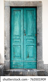 old typical vintage wooden door