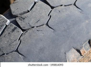 Old tyre closeup