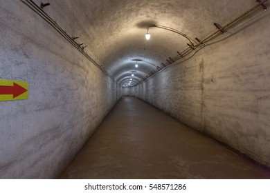 Old underground tunnel used as nuclear bomb shelter