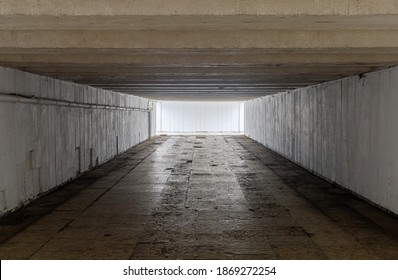 The old underpass is deserted as a symbol of the unknown