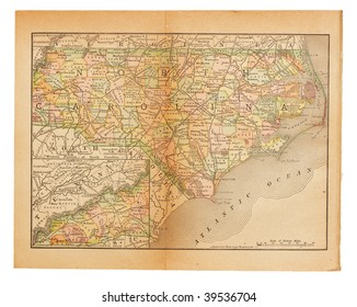 Old United States map from XIX century