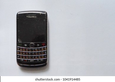 The old and unused Blackberry Bold 9700 isolated on white background sold for Thai consumers. This smartphone was no longer available in the market. Photo taken in September 2010 in Bangkok, Thailand