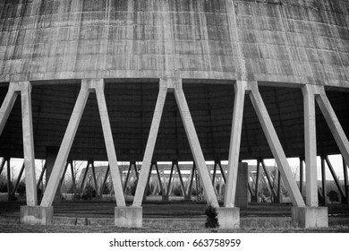 Old and unused nuclear power plant