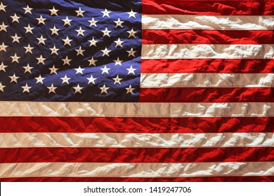Old USA American flag background