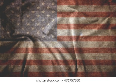 Old Usa flag. American background