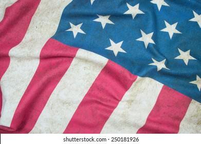 old USA flag background