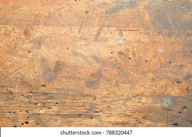 Old used dirty workbench for background or texture.