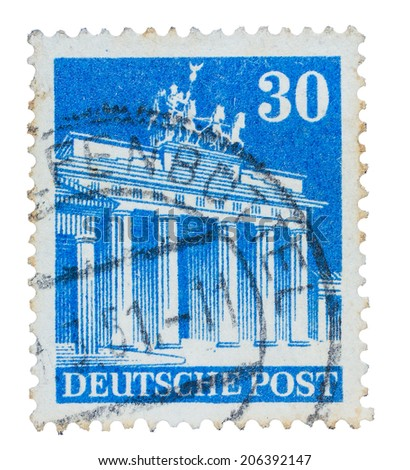 Old Used German Stamp From 30th December 1923 Year With Monument And Fenbuttel
