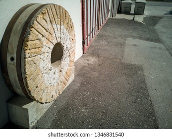 Old used millstone