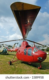 Old ussr helicopter in museum