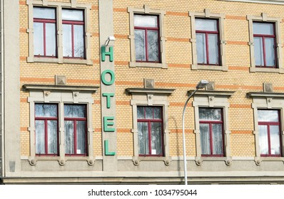 old vacant hotel