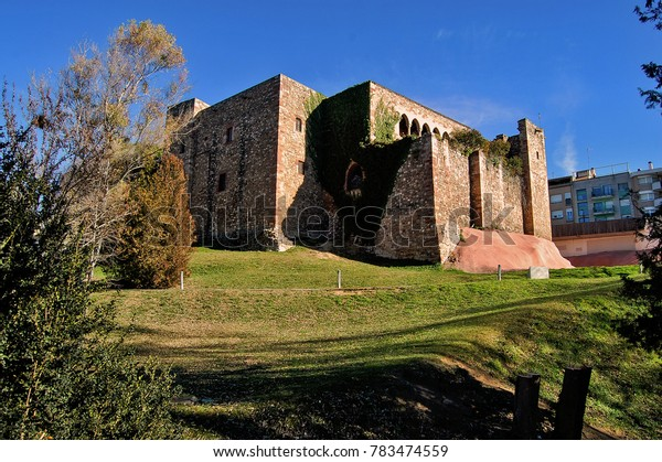 Old Vallparadis castle at Terrassa city in Barcelona province - Catalonia / Spain