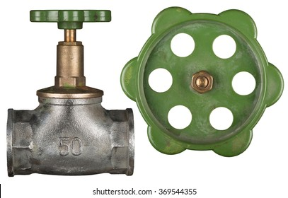 Old valve isolated on white