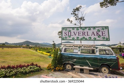 The old van was parking in Silverlake on 6 January 2016.There is the famous vine yard in Pattaya, Thailand